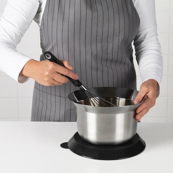 OMTÄNKSAM Bol mélangeur avec couvercle, acier inoxydable/gris clair, 2.5 l