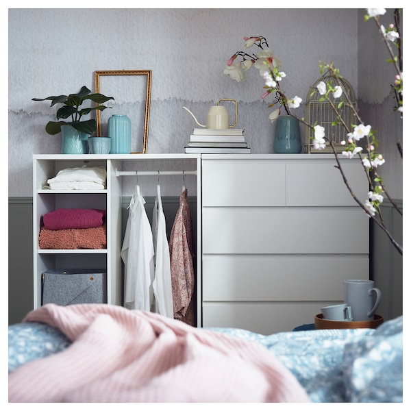 MALM Commode 6 tiroirs, blanc, 80x123 cm