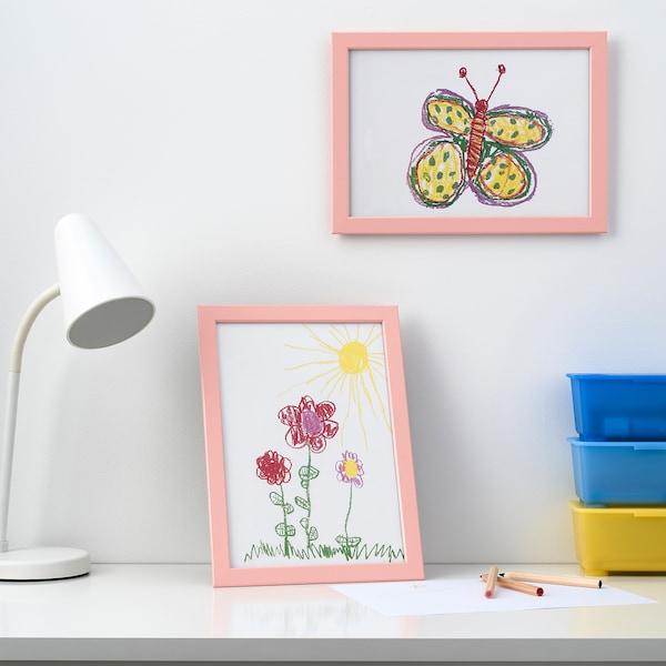 FISKBO Bingkai, merah jambu lembut, 21x30 cm
