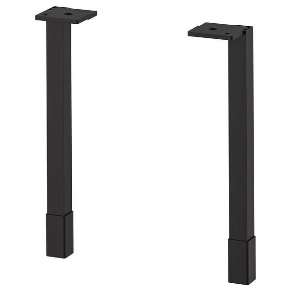 ENHET Pieds pour meuble de rangement, anthracite, 23.5 cm