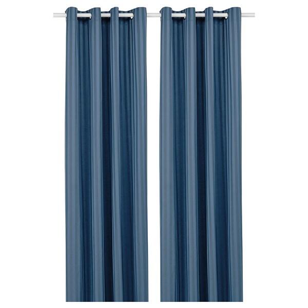 MAJRID Rideaux, 2 pièces, bleu, 145x300 cm