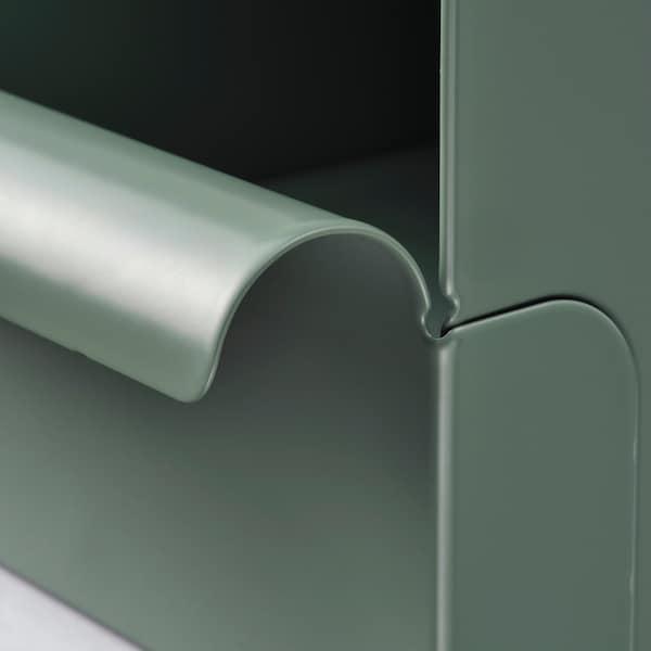 REJSA Boîte, gris vert/métal, 17.5x25.0x12.5 cm