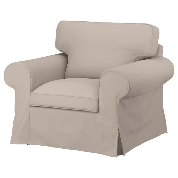EKTORP Housse pour fauteuil, Totebo beige clair
