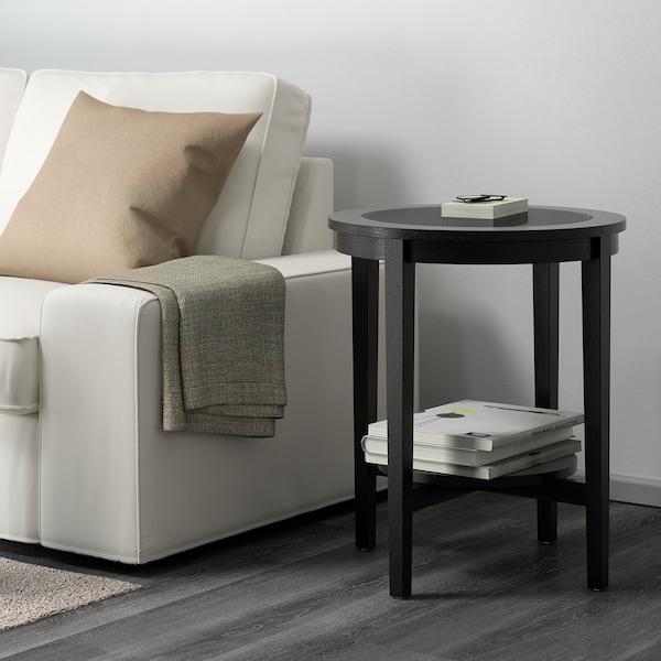 MALMSTA Table d'appoint, brun noir, 54 cm