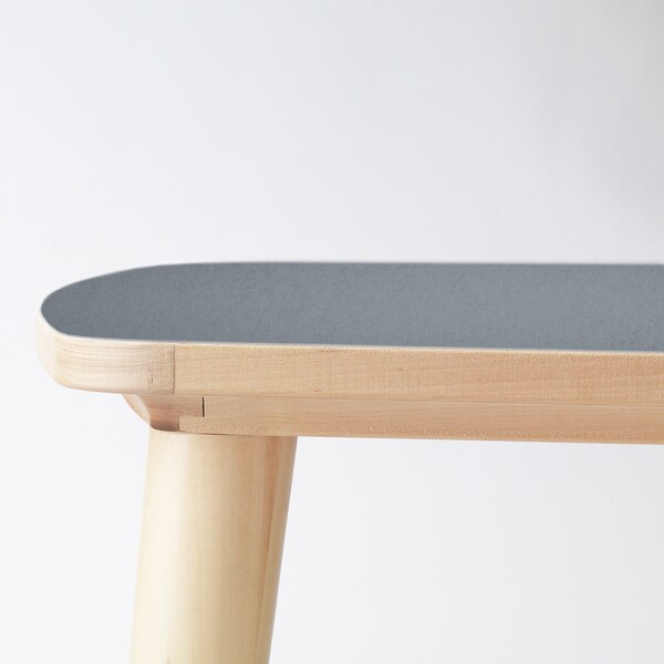 OMTÄNKSAM Table basse, anthracite/bouleau, 115x60 cm