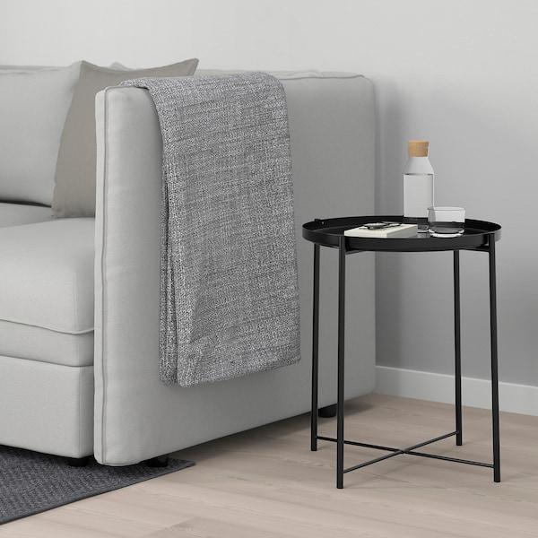GLADOM Table/plateau, noir, 45x53 cm