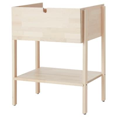 VILTO Wash-stand with 1 drawer, birch