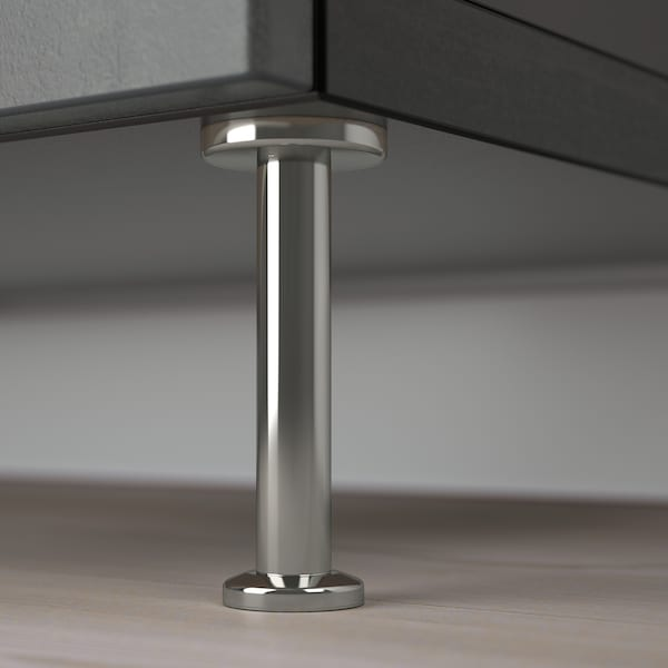 BESTÅ Combi rangement portes/tiroirs, brun noir Kallviken/Stallarp/gris foncé imitation ciment, 120x40x74 cm