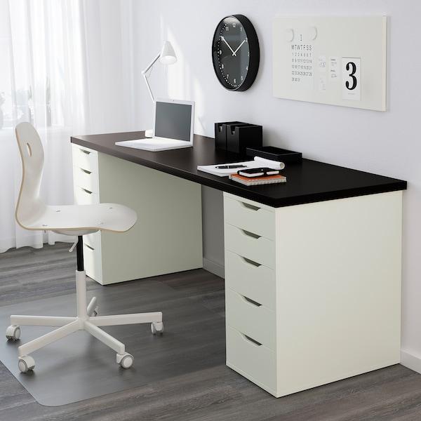 "LINNMON / ALEX Table, black-brown/white, 78 3/4x23 5/8 """