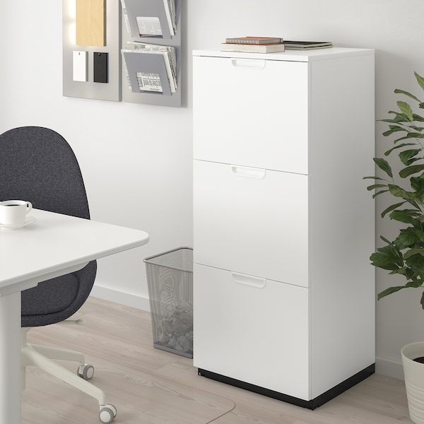 Galant Armoire A Dossiers Blanc 51x120 Cm Ikea