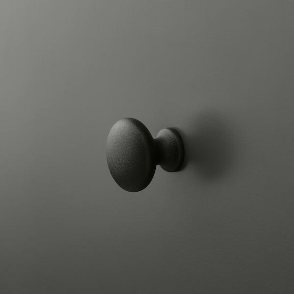 BRYGGJA Commode 9 tiroirs, gris foncé, 118x92 cm