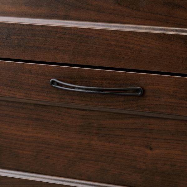 SONGESAND Commode 6 tiroirs, brun, 82x126 cm