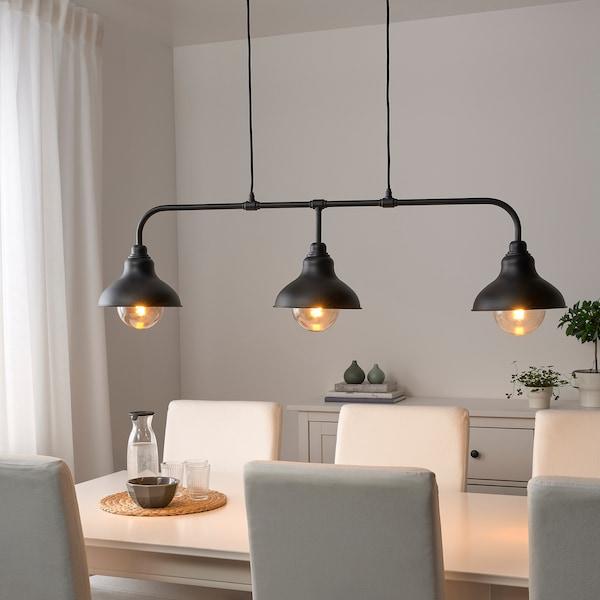 AGUNNARYD Plafondlamp met 3 lampen, zwart