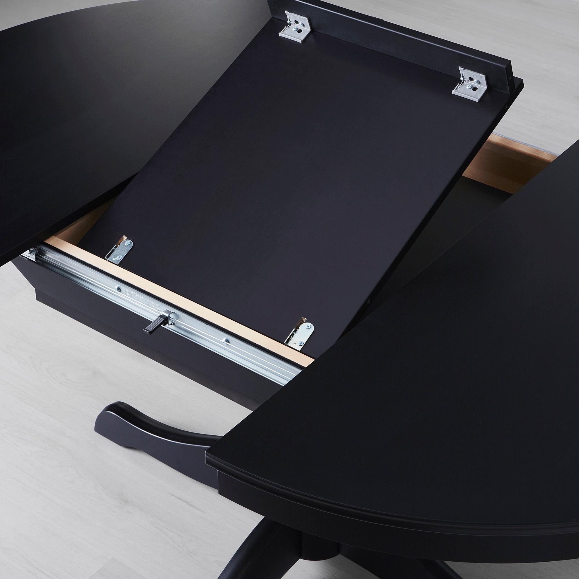 Раздвижной стол, черный, 110/155 см ИНГАТОРП 403.615.75 - фото 7 - интернет-магазин lbstore.kz