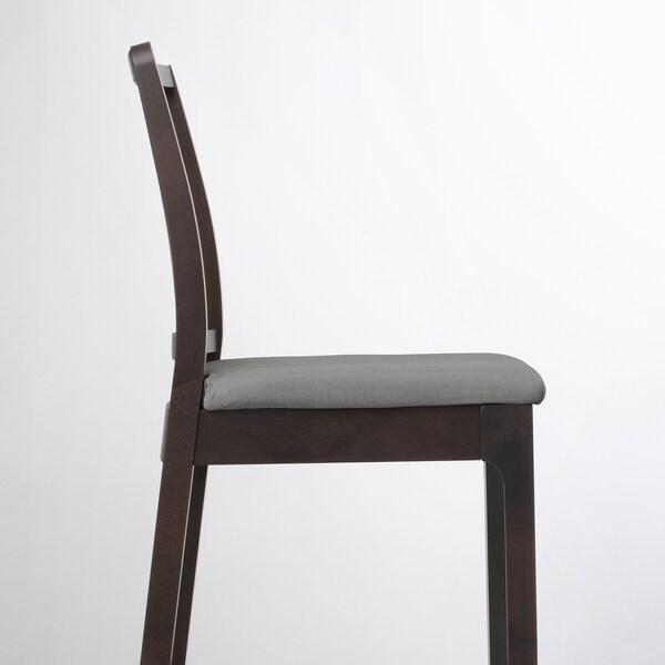 EKEDALEN / EKEDALEN Table de bar+4 tabourets, brun foncé/Orrsta gris clair