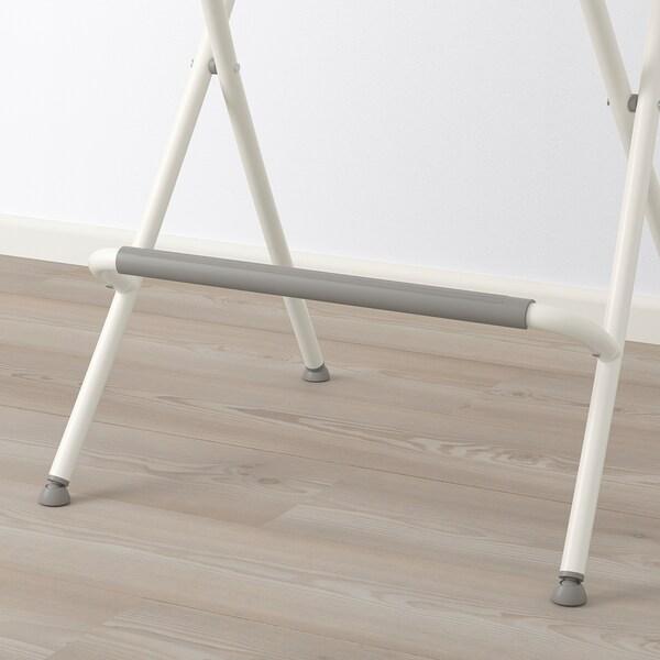 FRANKLIN Chaise de bar, pliante, blanc/blanc, 63 cm
