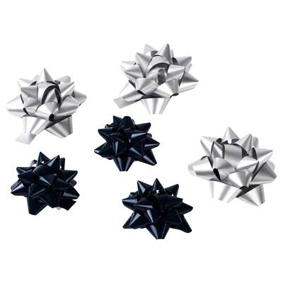 VINTER 2020 Noeud paquet cadeau, bleu/couleur argent