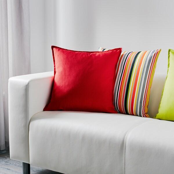 GURLI Housse de coussin, rouge, 50x50 cm