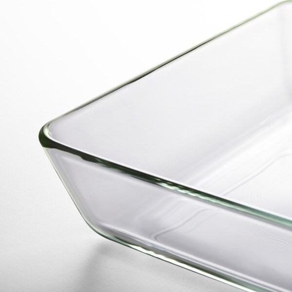 MIXTUR Plat /plat à four, verre transparent, 35x25 cm