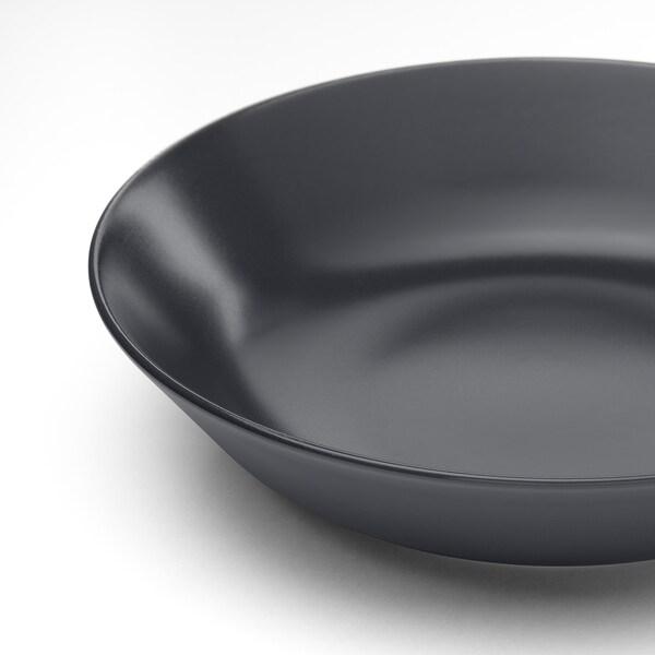 DINERA Assiette creuse, gris foncé, 22 cm