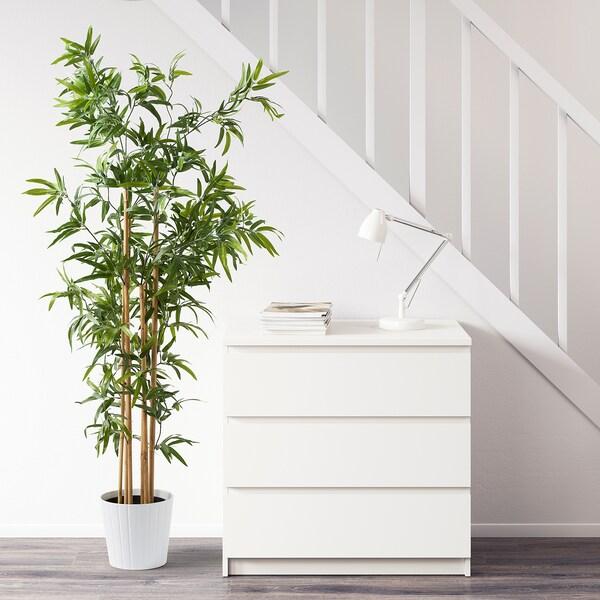 FEJKA Plante artificielle en pot, intérieur/extérieur bambou, 23 cm