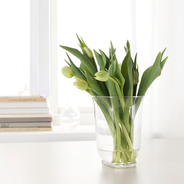 POMP Vase/lanterne, verre transparent, 18 cm