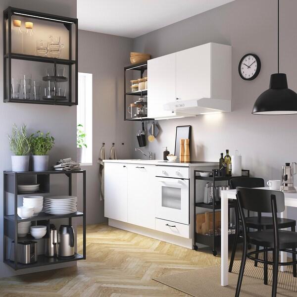 ENHET Combinazione da parete/pavimento, antracite, 60x30x150 cm