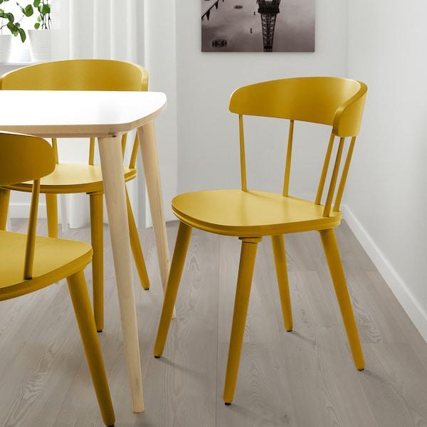 OMTÄNKSAM Chaise, jaune