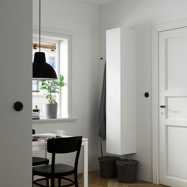 ENHET Hi cb w 4 shlvs/door, white, 30x30x180 cm