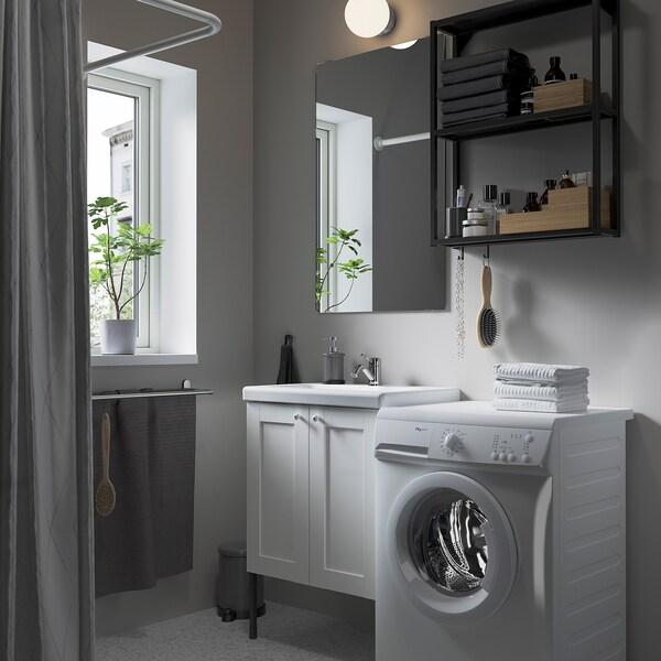 ENHET / TVÄLLEN Mobles de bany, joc d'11, blanc estructura/antracita Lillsvan aixeta, 64x43x87 cm