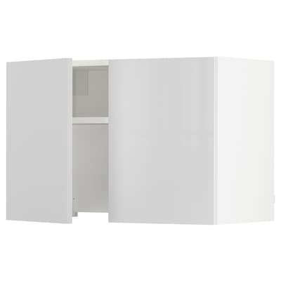 "SEKTION Armoire murale av hotte intégrée, blanc/Ringhult blanc, 30x15x20 """