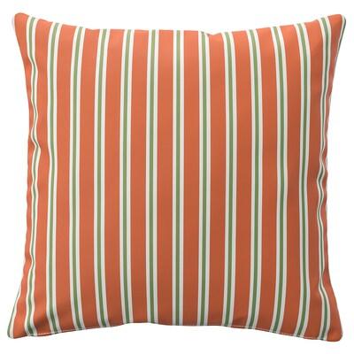 FUNKÖN Husă pernă, interior/exterior, portocaliu dungă, 50x50 cm