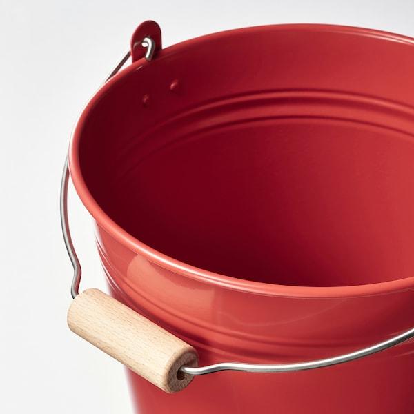 SOCKER Bucket/plant pot, indoor/outdoor/red, 3 qt