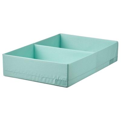 STUK Rangement à compartiments, turquoise clair, 34x51x10 cm