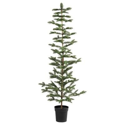 VINTER 2020 Plante artificielle en pot, intérieur/extérieur/sapin de Noël vert, 19 cm