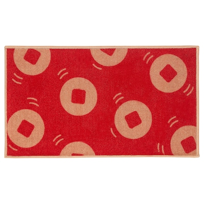 "SOLGLIMTAR Paillasson, rouge/couleur or, 1 ' 4 ""x2 ' 4 """
