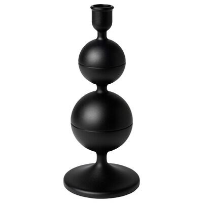 DEKORERA Castiçal, cinz esc, 24 cm