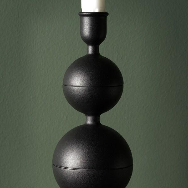 DEKORERA Świecznik, ciemnoszary, 24 cm