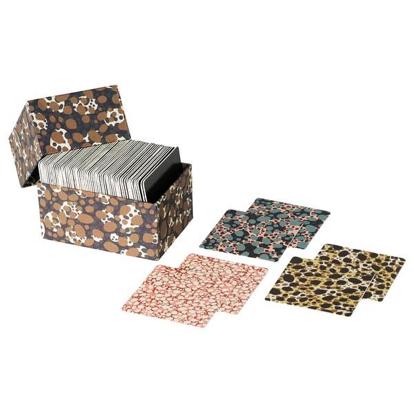 DEKORERA Card game, 32 pairs, dotted brown