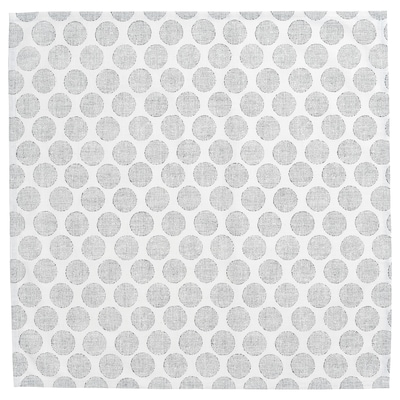DEKORERA Dish towel, dotted natural/gray, 24x24 ""