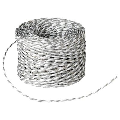 VINTER 2020 Ficelle cadeau, blanc/couleur argent, 40 m