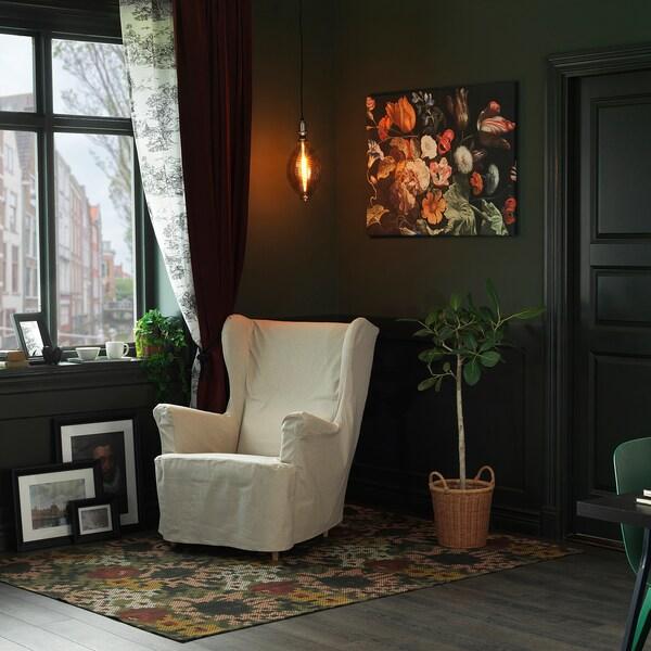 DEKORERA سجاد، غزل مسطح, نمط الزهور, 160x220 سم