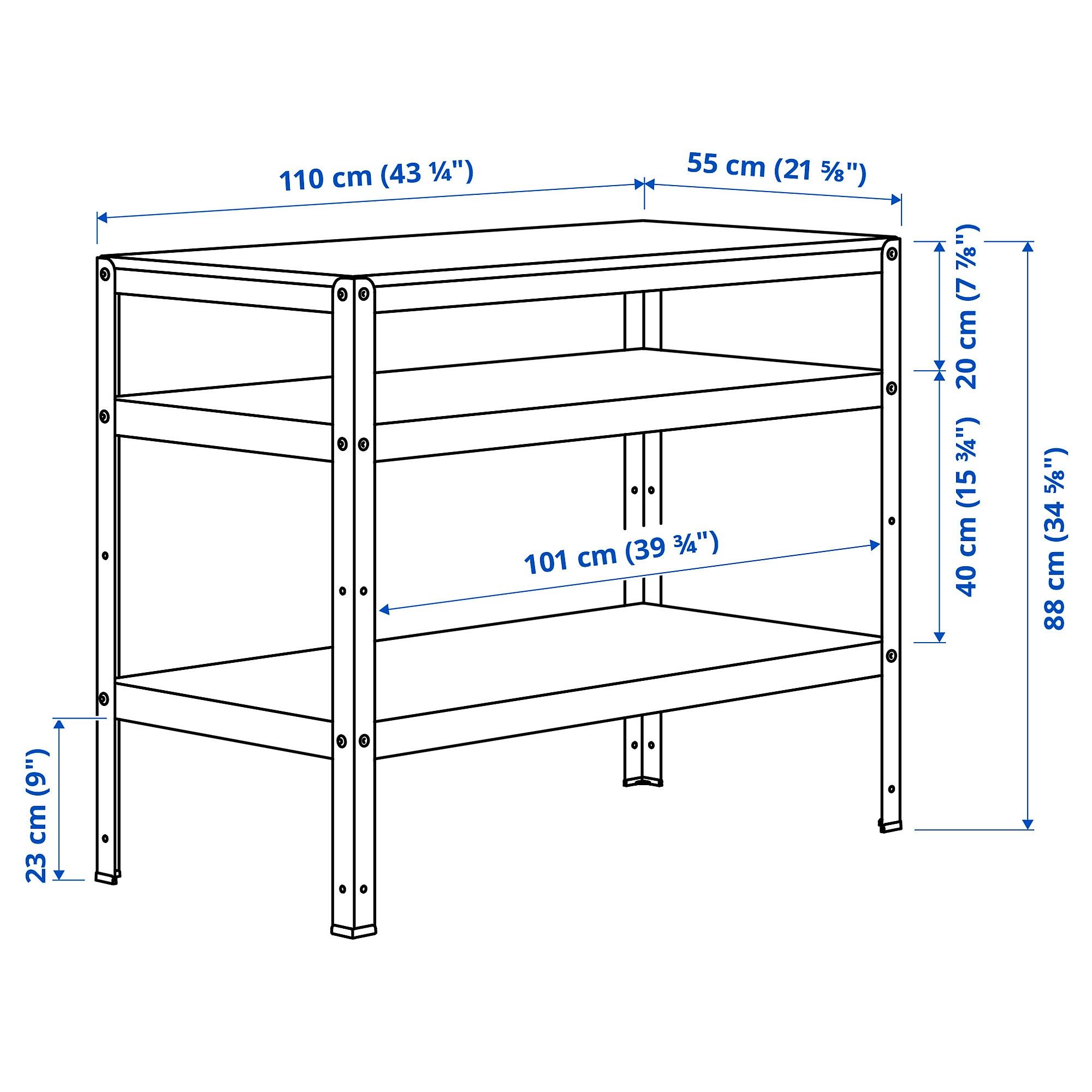 BROR Bord vit 110x55 cm