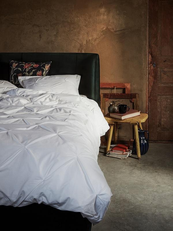 TRUBBTÅG Funda nòrdica i funda de coixí, blanc, 150x200/50x60 cm