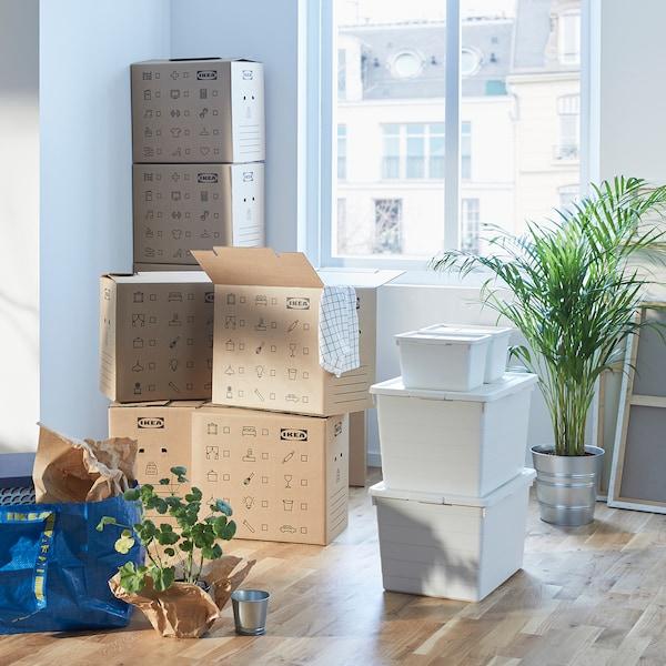 DUNDERGUBBE Kit 4p, carton+boîte+couvercle+sac