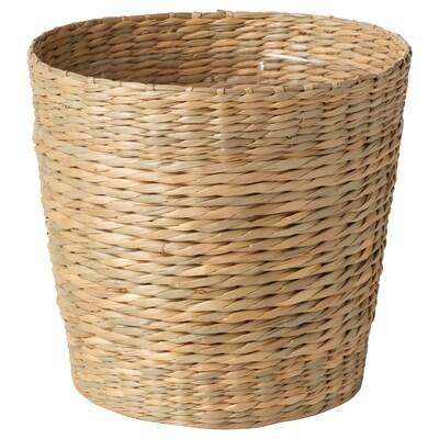 DJUNGELGURKA Cache-pot, jonc de mer, 15 cm