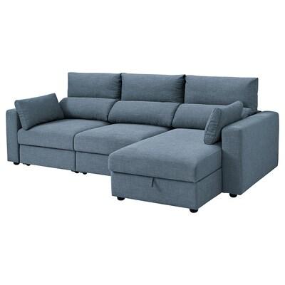 ESKILSTUNA Sofá 3 plazas, +chaiselongue/Gunnared azul