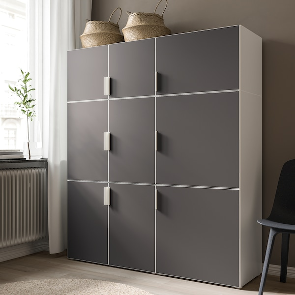 SKATVAL Låge, mørkegrå, 60x40 cm