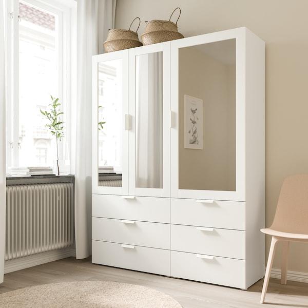 RIDABU باب بمرآة, أبيض, 40x120 سم