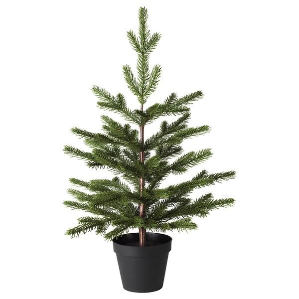VINTER 2020 Planta artificial, int/ext/árbol de navidad verde, 12 cm